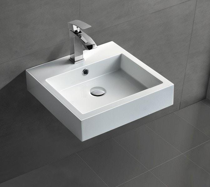 Wandwaschbecken Aufsatzwaschbecken BS6050 45 x 45 x 12,5cm