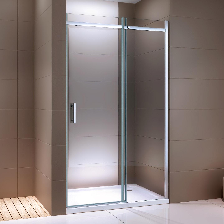Dusche für Nische mit Schiebetür DX806A FLEX - Nano ESG-Sicherheitsglas - Breite wählbar