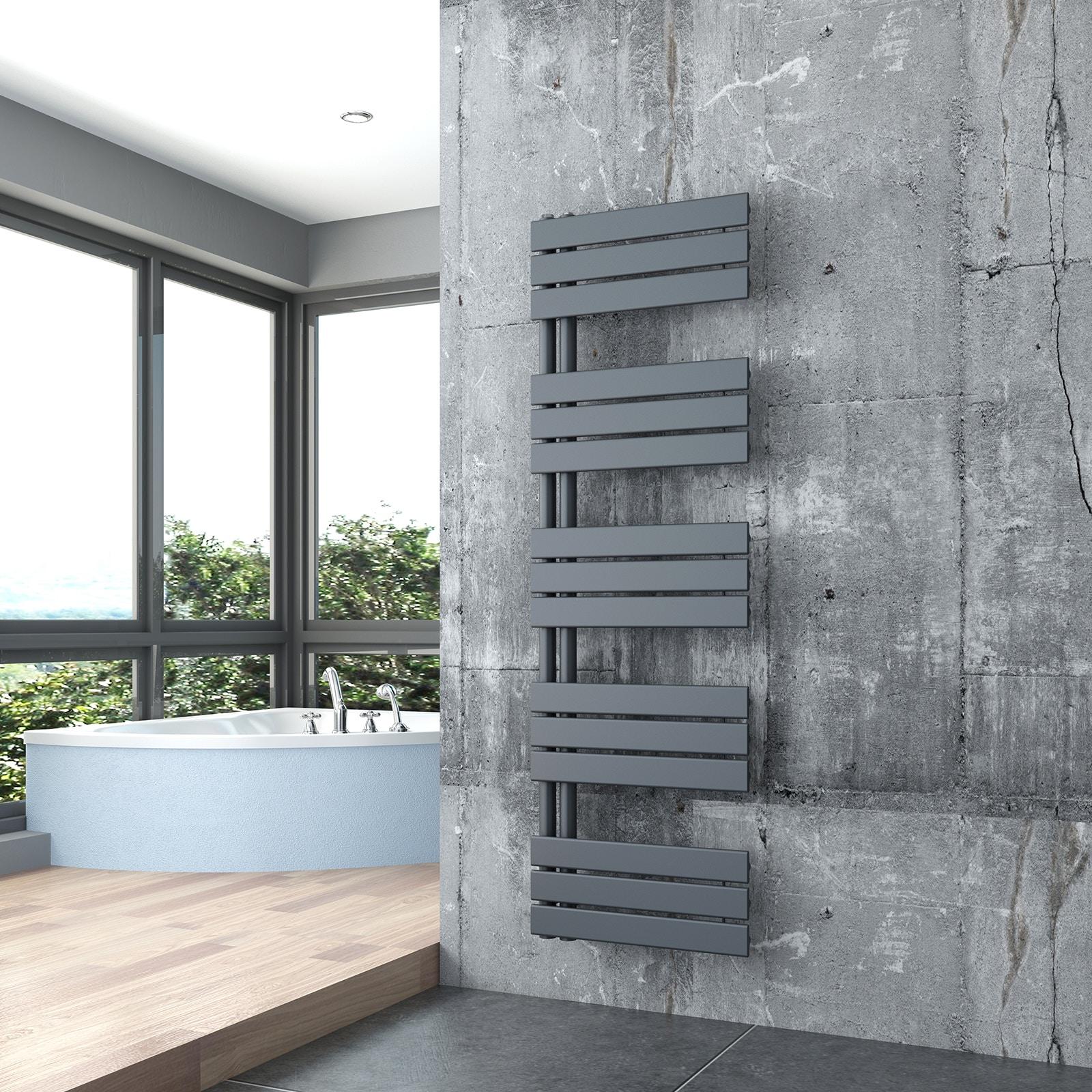 Designer Bathroom Towel Rail Radiator D16G - Anthracite - width selectable