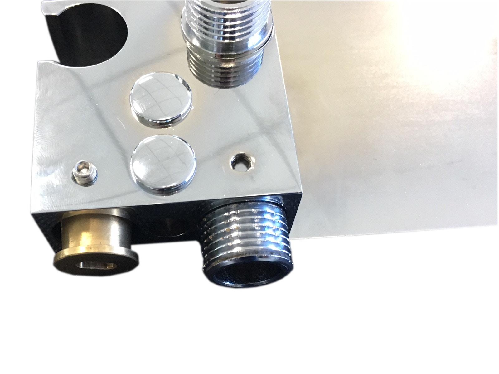 Hochwertige Duschablage DS40 inkl. Wandanschlussbogen - Duschschlauch und Handbrause optional